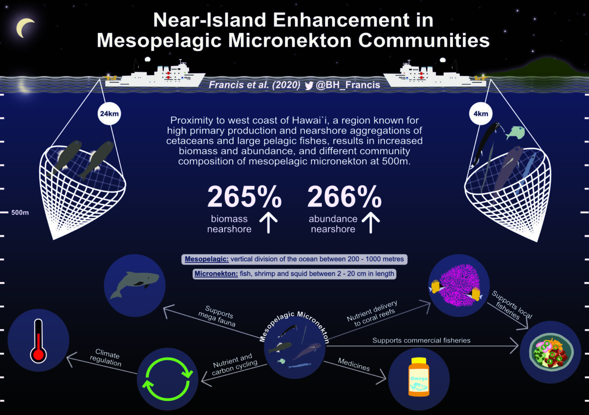 Beth Francis / Envision / Near island enhancement in mesopelagic micronekton communities